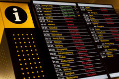 Departure board Stock Photo