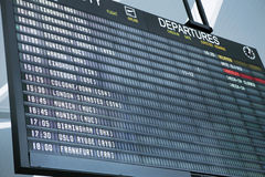 Departure board Royalty Free Stock Photography