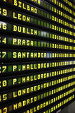 Departure board Royalty Free Stock Images