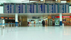 Departure board stock footage