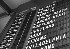 Departure board Royalty Free Stock Photo