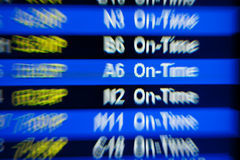 Departure board at  airport Royalty Free Stock Image