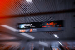Departure board in Airport Stock Photography