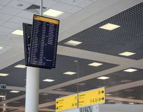 Departure Board at Moscow airport royalty free stock photos
