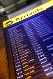 Departure board on the train station in Paris, France Royalty Free Stock Images