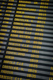 Departure board on the train station in Venice, Italy Royalty Free Stock Photo