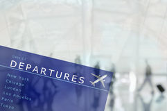 Departure Board Travel Concept Royalty Free Stock Image