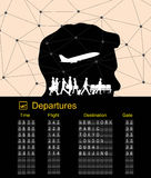 Departure boarding with abstract background Stock Photography