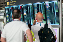Departure boards Royalty Free Stock Photography