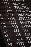 Departure chart at the airport. A departure chart at the airport Royalty Free Stock Images