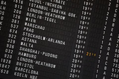 Departure chart at the airport Stock Image