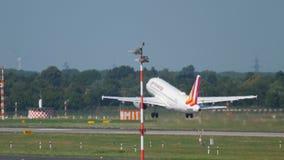 Departure from Dusseldorf stock video footage