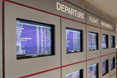 Departure flight information screens Royalty Free Stock Photography
