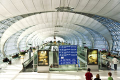 Departure Gate and hall in the new Airport Suvarnabhumi in Bangk Stock Images