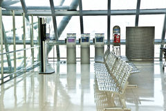 Departure Gate and hall in the new Airport Suvarnabhumi in Bangk Royalty Free Stock Photo