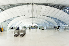 Departure Gate and hall in the new Airport Suvarnabhumi in Bangk Stock Photo