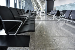 Departure Gate at Heathrow airport Royalty Free Stock Image