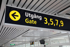 Departure gates Royalty Free Stock Images