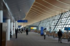 Departure gates and concourse at Pudong International Airport Shanghai China Stock Photos