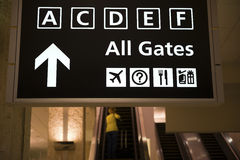 Departure gates sign Stock Photo