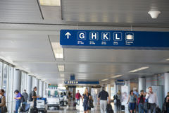 Departure gates signs Stock Photography