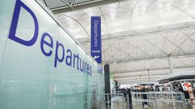Departure hall in airport. stock video footage