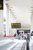 Departure hall in an airport terminal Royalty Free Stock Image