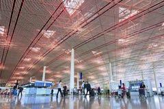 Departure hall Beijing Capital Airport Terminal 3 Stock Photo
