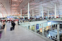 Departure hall Beijing Capital International Airport Stock Images