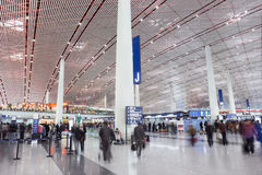 Departure hall Beijing Capital International Airport Stock Photos