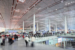 Departure hall Beijing Capital International Airport Stock Photo