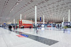 Departure hall Beijing Capital International Airport Stock Photography