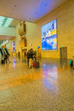 Departure hall at Changi airport with check-in zone Stock Image