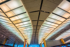 Departure hall at Changi airport with check-in zone Royalty Free Stock Photography