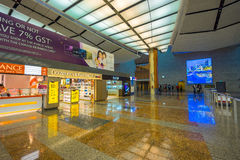 Departure hall at Changi airport with check-in zone Royalty Free Stock Images