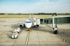 Departure In Airport Field Stock Photography