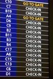 Departure information board Stock Image