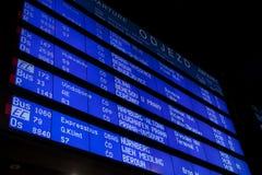 Departure information board Stock Photos