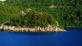Departure from Island Mljet Royalty Free Stock Photography