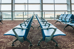 Departure lounge at the airport Royalty Free Stock Photos