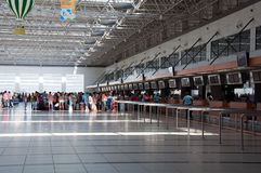 Departure lounge at airport in Antalya, Turkey Stock Photo