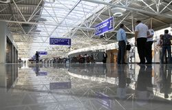 Departure lounge at the airport Boryspil Royalty Free Stock Photo