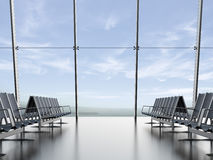 Departure lounge at the airport Stock Photo