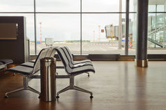 Departure lounge at the airport. Interior of departure lounge at the airport Stock Image
