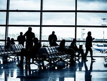 Departure lounge of an airport stock photography