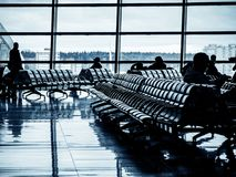 Departure lounge of an airport royalty free stock photo