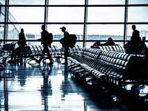 Departure lounge of an airport royalty free stock images