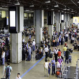 Departure lounge inside Gru Airport in Sao Paulo, Brazil. Stock Photography