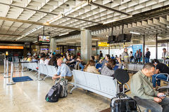 Departure lounge inside Gru Airport in Sao Paulo, Brazil. Stock Images
