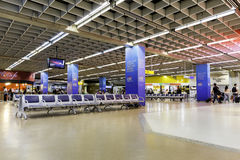 Departure lounge inside Gru Airport in Sao Paulo, Brazil. Royalty Free Stock Photos